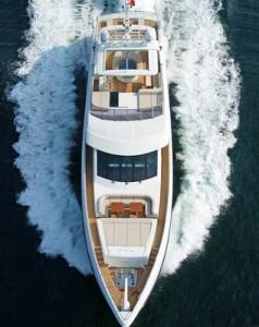 Mega yacht in Turkey